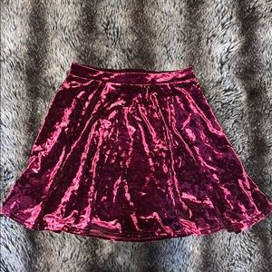 Top Shop velvet skirt